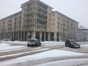Neve in piazza Europa